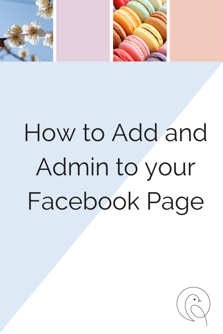 Text Reads: How to add an admin to your Facebook page
