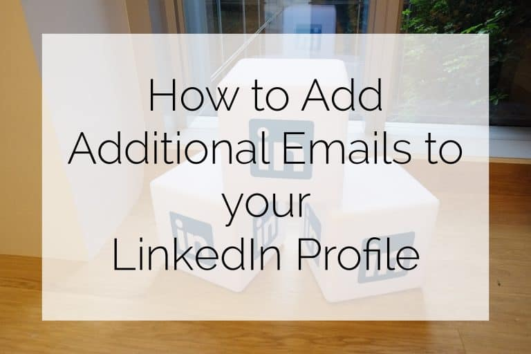 How to add email to LinkedIn