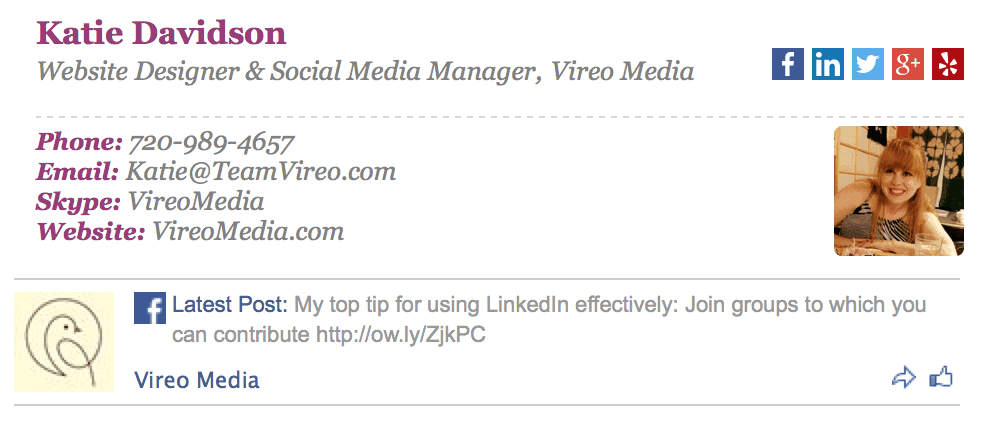 Vireo Media Email Signature