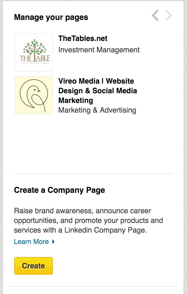 Create a company LinkedIn Page