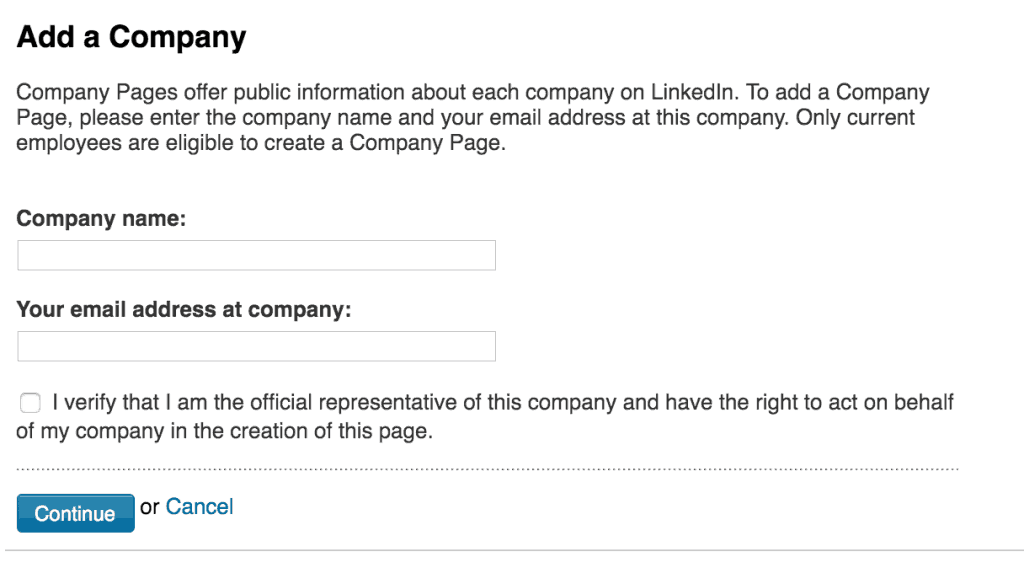Add company name and email