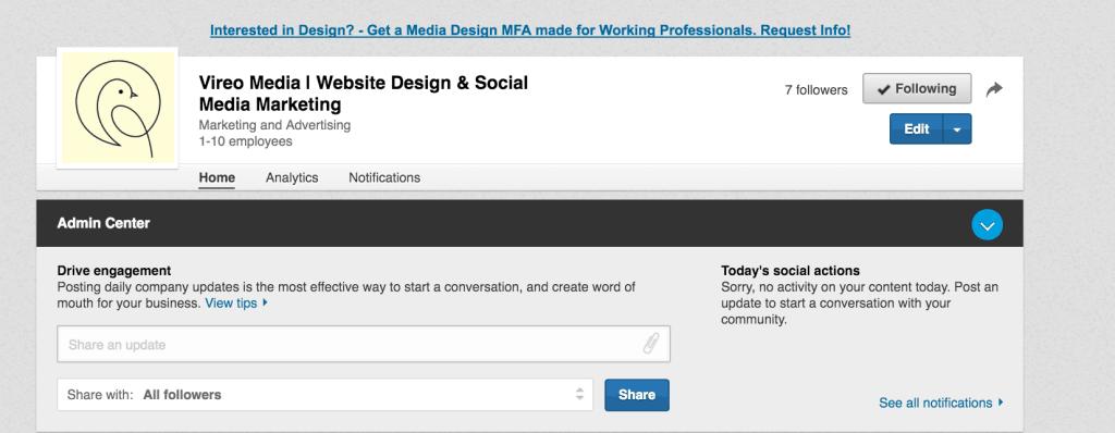 Edit your LinkedIn Company Profile