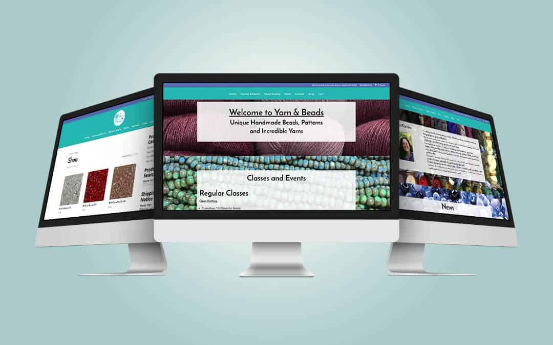Yarn and Beads Website Design Mockup