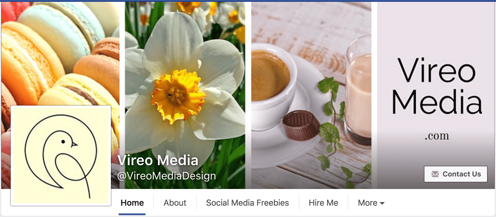 Facebook Cover Photo hover text