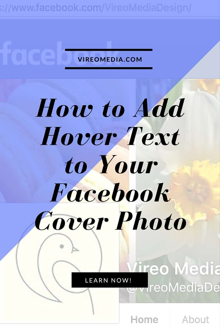 How to add cover photo hover text on Facebook