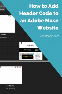 How to add header code to an adobe muse website pinterest graphic
