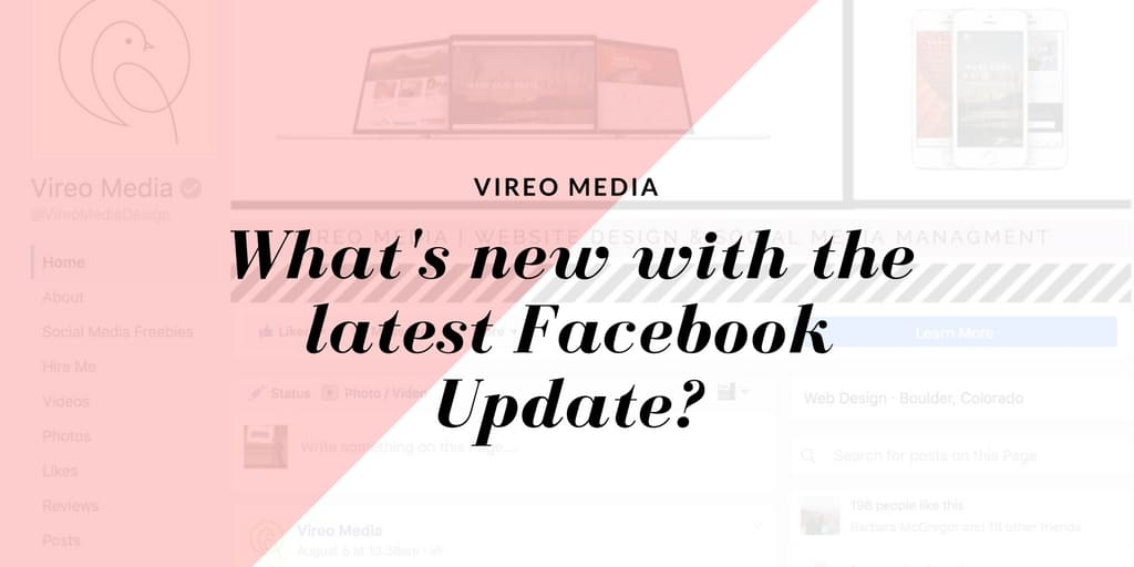 What's new with the latest Facebook update?