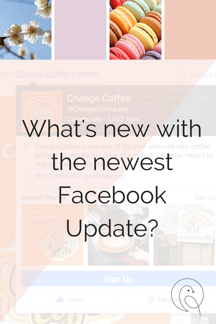 What's new with the latest Facebook Update