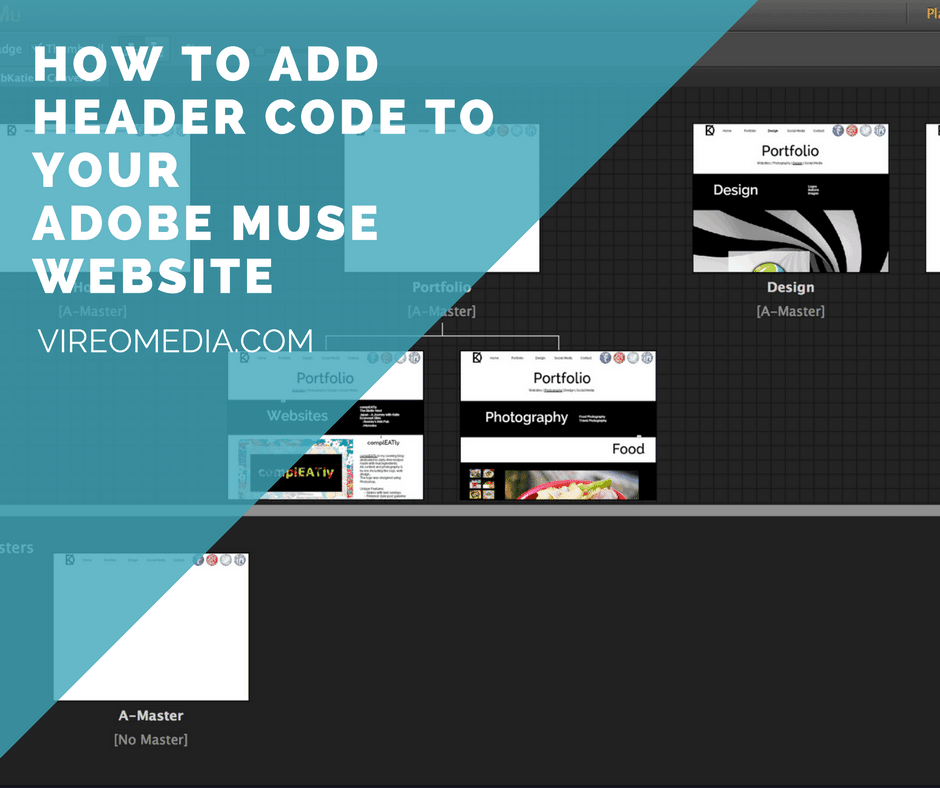 How to add header code to your adobe muse website title graphic