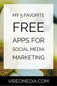 My 5 Favorite Free apps for social media Marketing