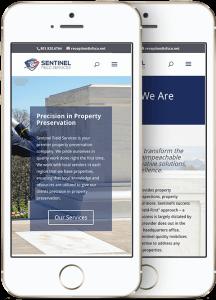 Sentinel Field Services Mobile Website Mockup