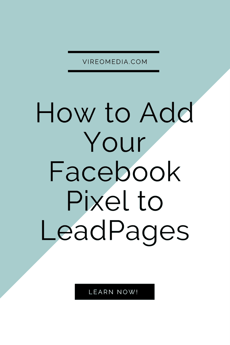Pinterest - How to add your Facebook Pixel to LeadPages