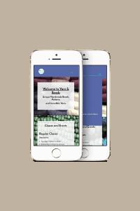 Yarn and Beads Mobile Website Mockup