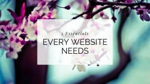 5 Essentials Every Website Needs