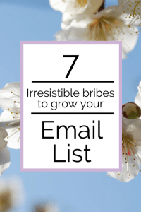 7 bribes to grow your email list