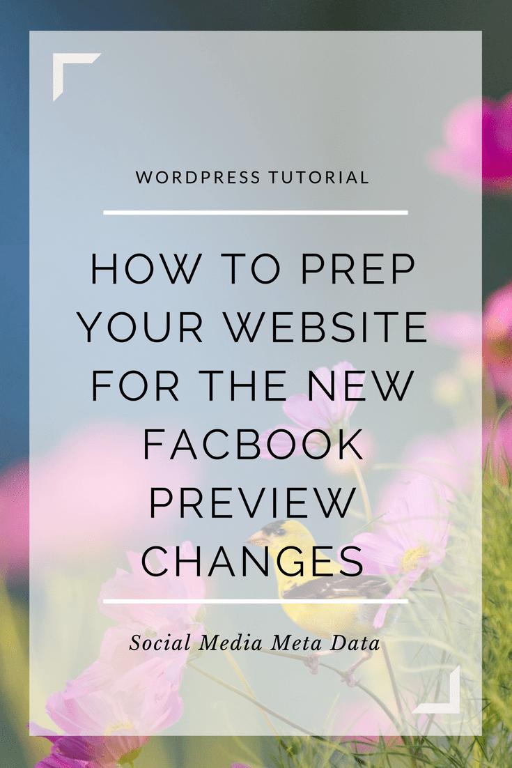 Facebook Preview Tutorial
