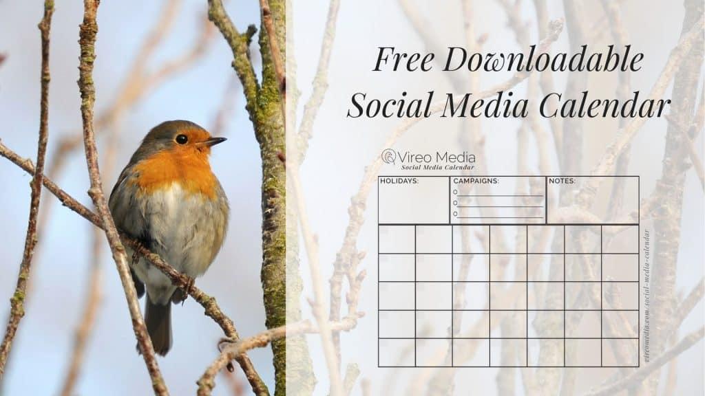 Free social media scheduling calendar