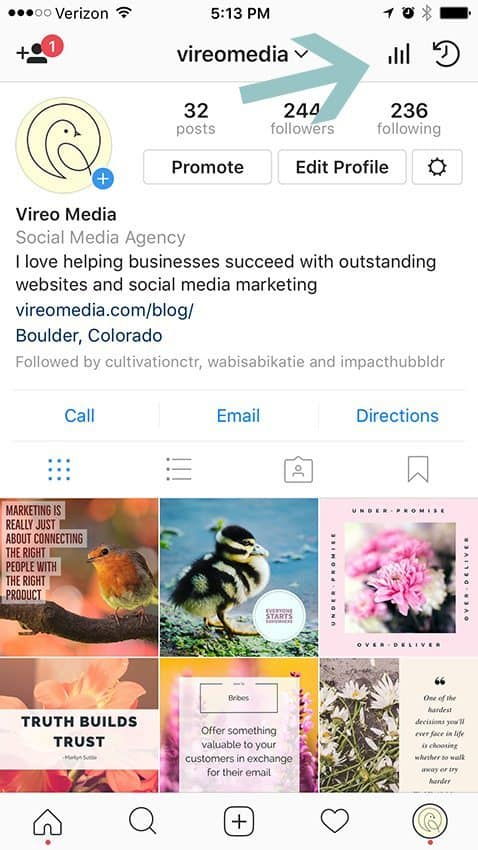 Verify you have a Instagram Business Account