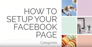 How to setup your facebook page categories