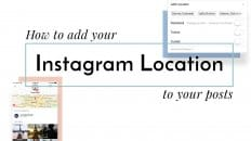 How to add a location to an Instagram Post