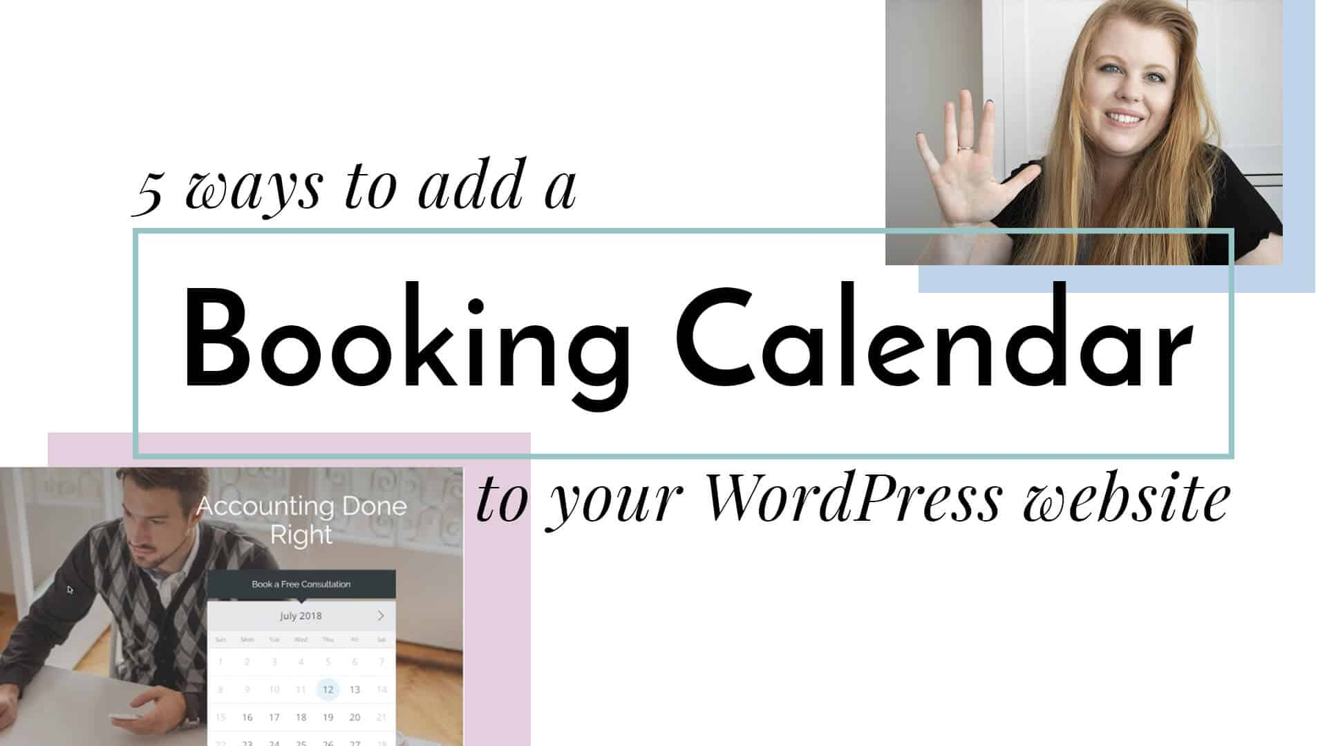 How to add a booking calednar to your wordpress website