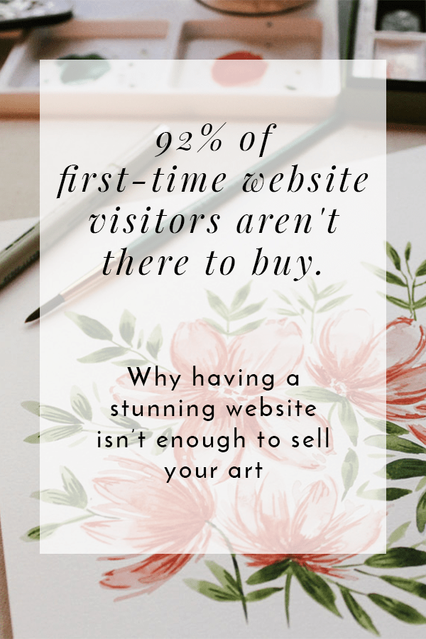 92% of website visitors aren't there to buy