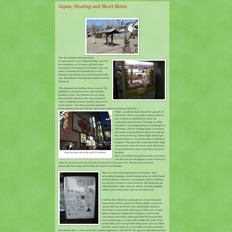 Screenshot of my first blog