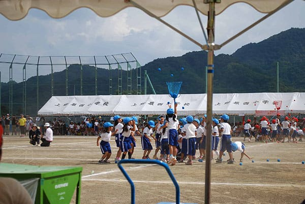 Japanese Students playing track and field