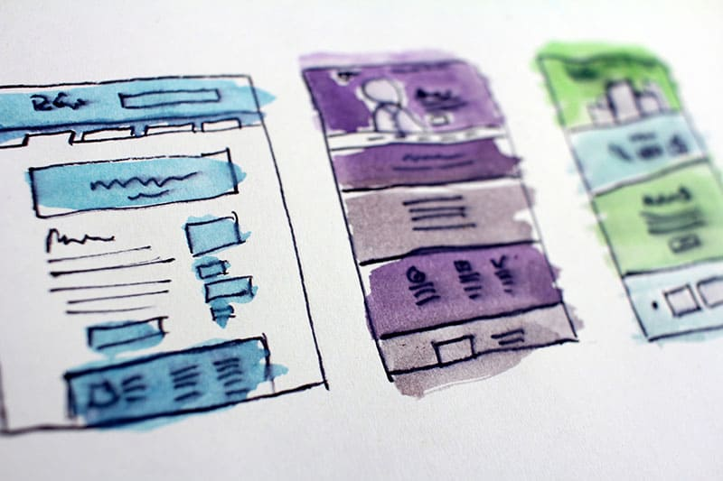 Hand-Drawn UX Prototypes with Water Color