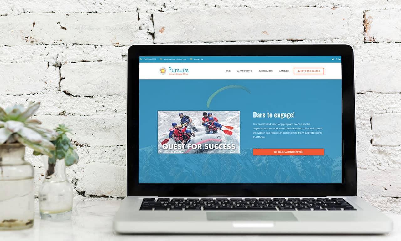 Mockup of Pursuits Website