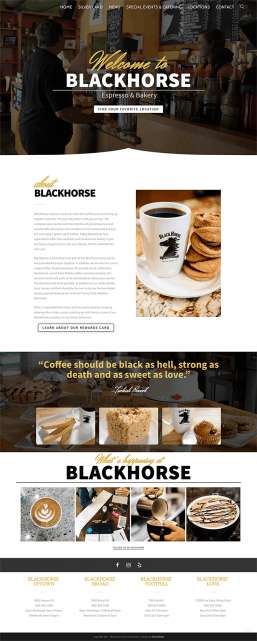BlackHorse Coffee Home Screenshot