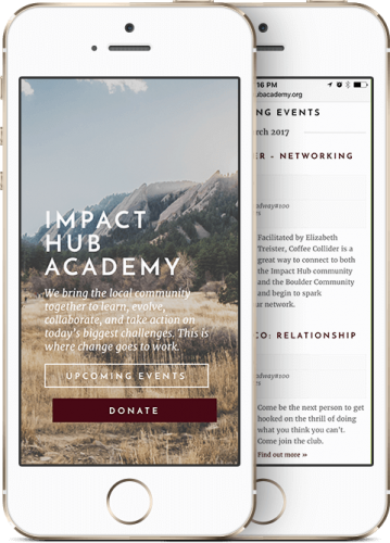 Impact Hub Academy Mobile Website