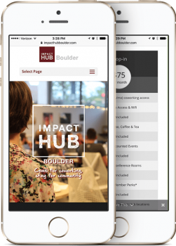 Impact Hub Boulder Mobile Website