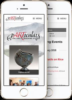 pARTiculars Portfolio Mobile
